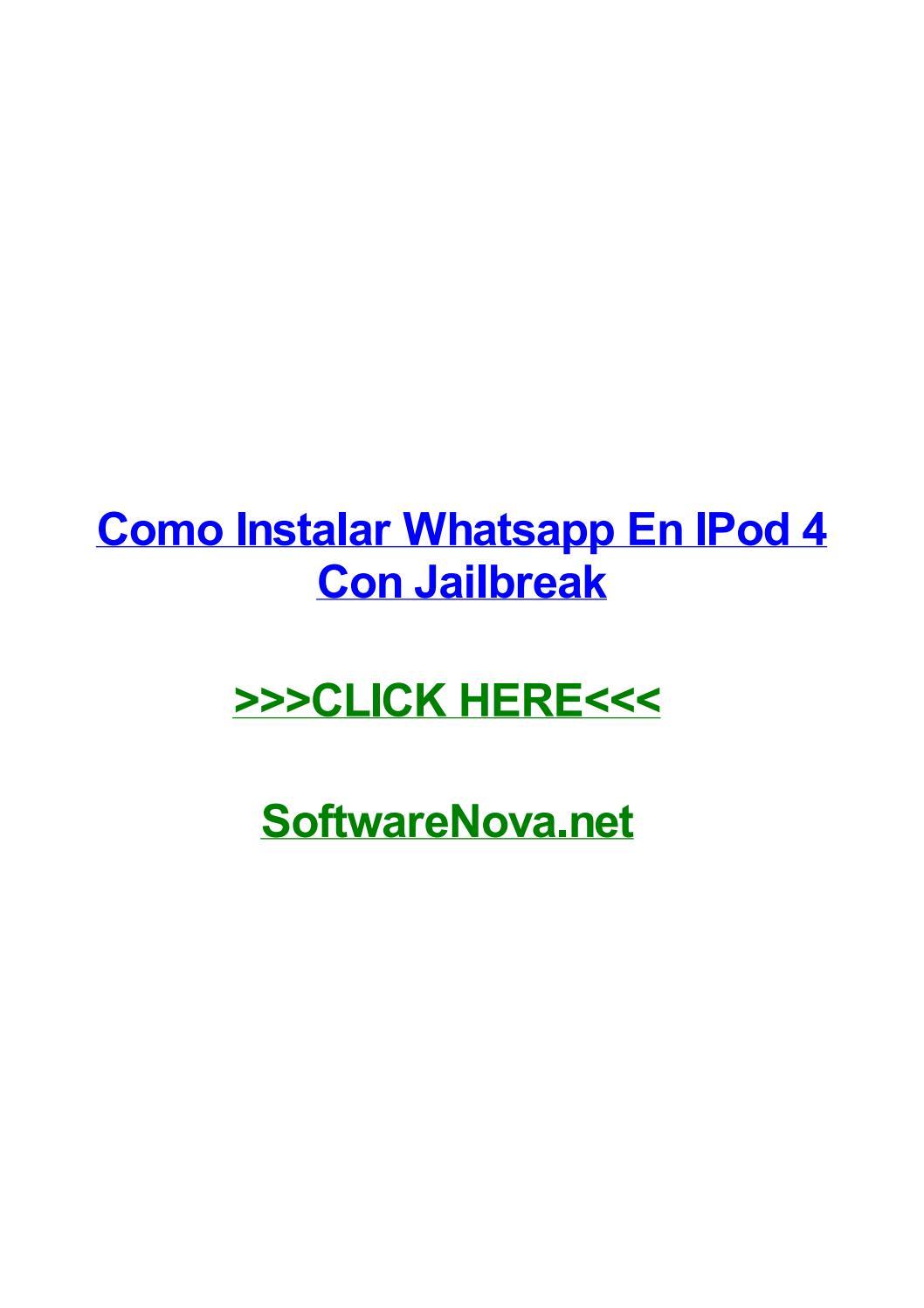 Como Instalar Whatsapp En Ipod 4 Con Jailbreak By Betsybbnvu