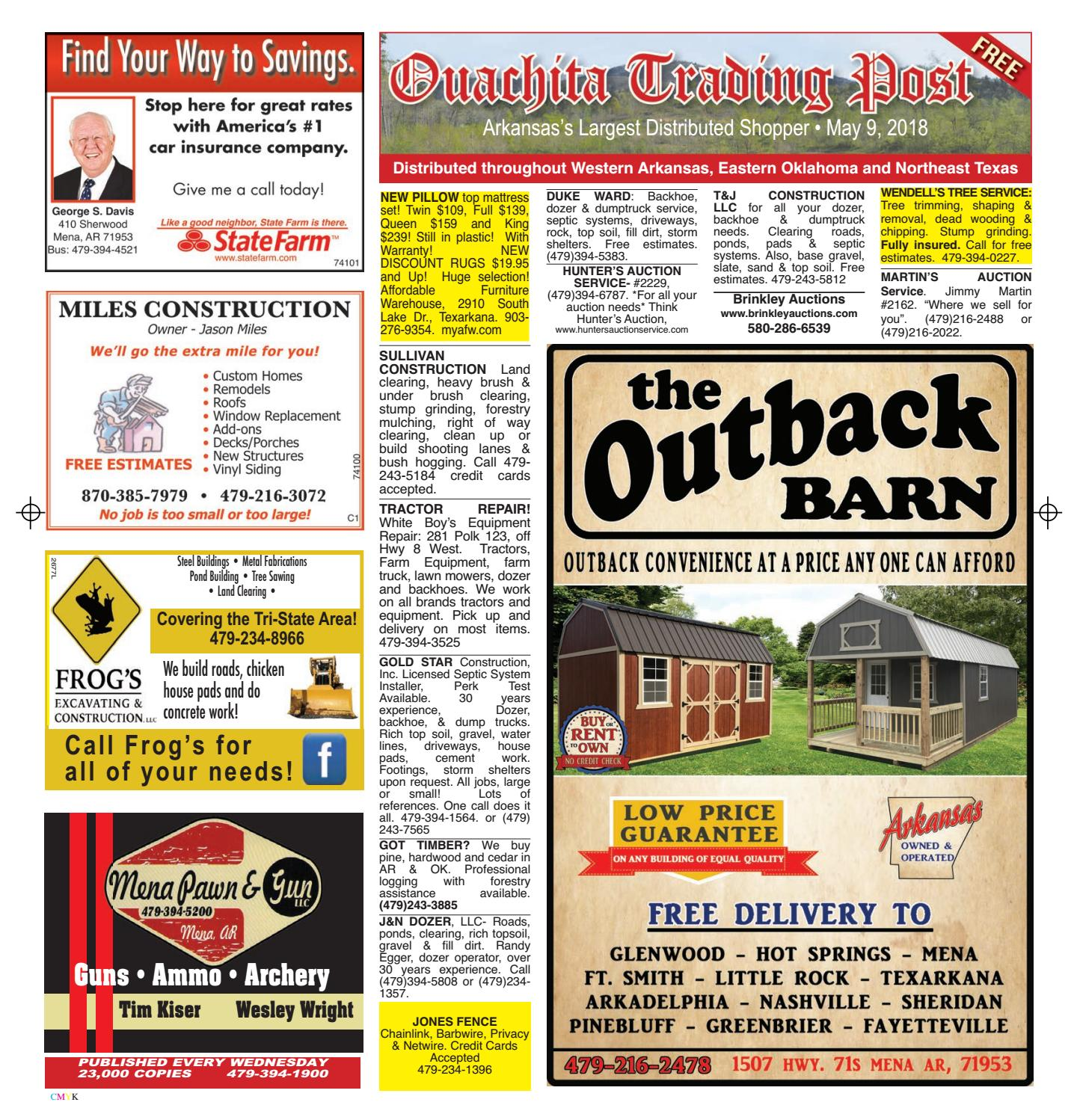 Ouachita Trading Post May 9, 2018 by Mena Newspapers, Inc  - issuu