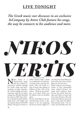 Page 40 of Live Tonight: Nikos Vertis