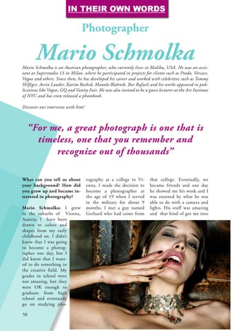 Page 58 of In His Own Words: Photographer Mario Schmolka