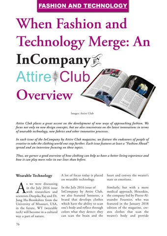 Page 76 of When Fashion and Technology Merge: An InCompany by Attire Club Overview