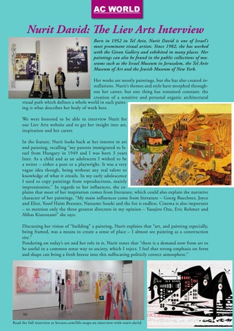 Page 90 of Nurit David: The Liev Arts Interview