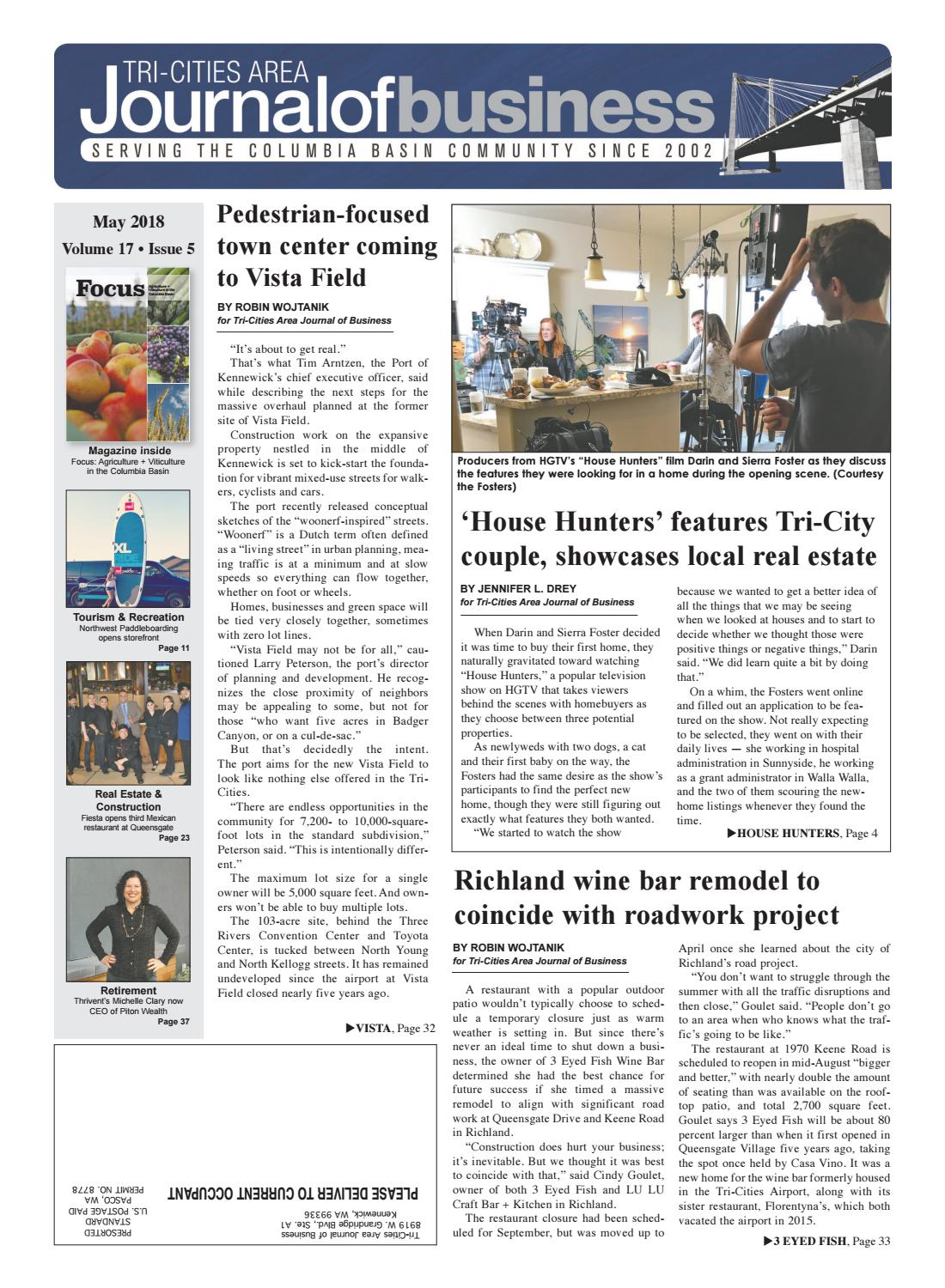 Tri-Cities Area Journal of Business -- May 2018 by Tri