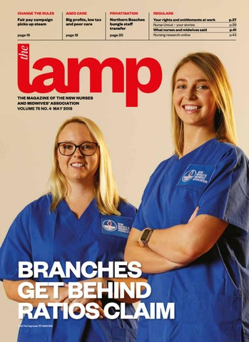 5ddc46e5d74 Lamp May 2018 by NSW Nurses and Midwives' Association - issuu