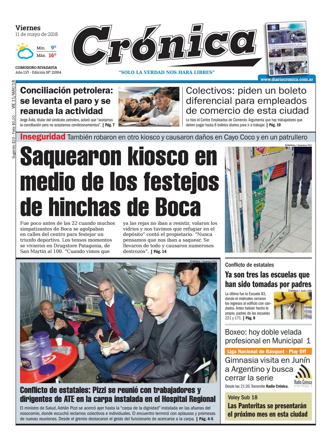 Diario cronica 11 05 2018 by Diario Crónica - issuu