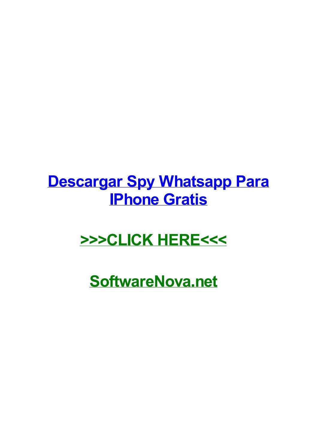 Descargar Spy Whatsapp Para Iphone Gratis By Samantharcmm