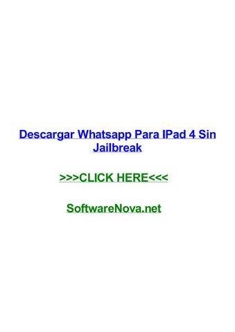 Descargar Whatsapp Para Ipad 4 Sin Jailbreak By Waynedhibe