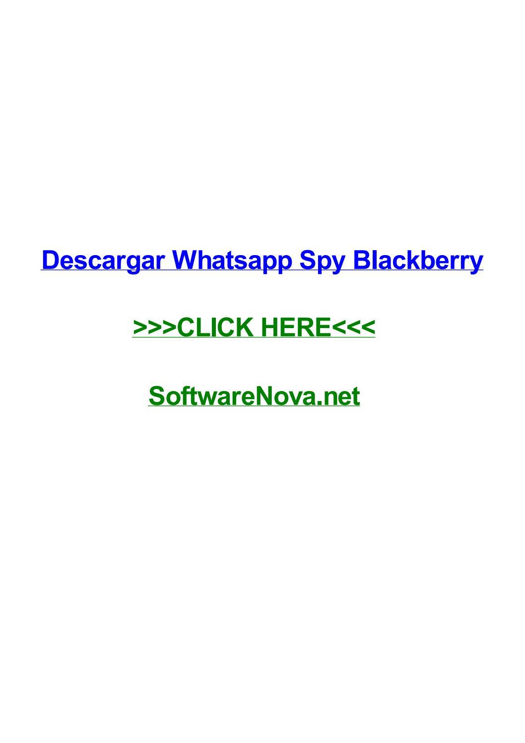 whatsapp spy blackberry