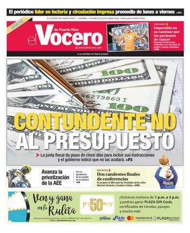 Edición del 11 de mayo de 2018 by El Vocero de Puerto Rico - issuu 1b627e1e545