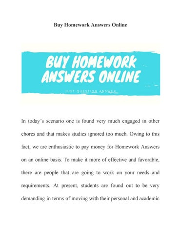 Pay for homework online