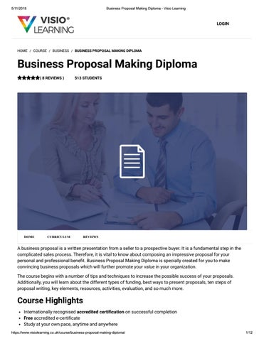 business proposal making diploma visio learning by visio learning