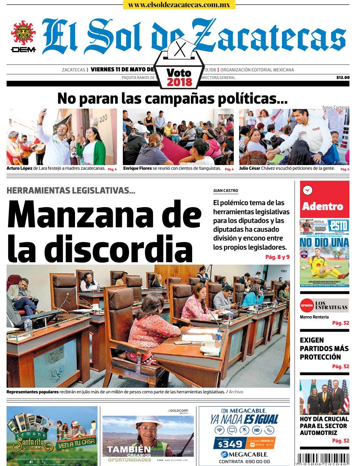 df2e216d85bc El Sol de Zacatecas 11 de mayo 2018 by El Sol de Zacatecas - issuu