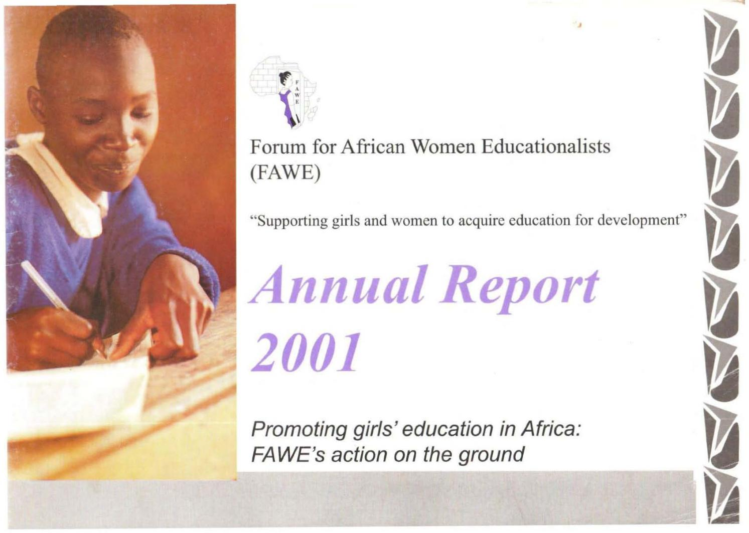 FAWE Annual Report 2001 By Forum For African Women Educationalists