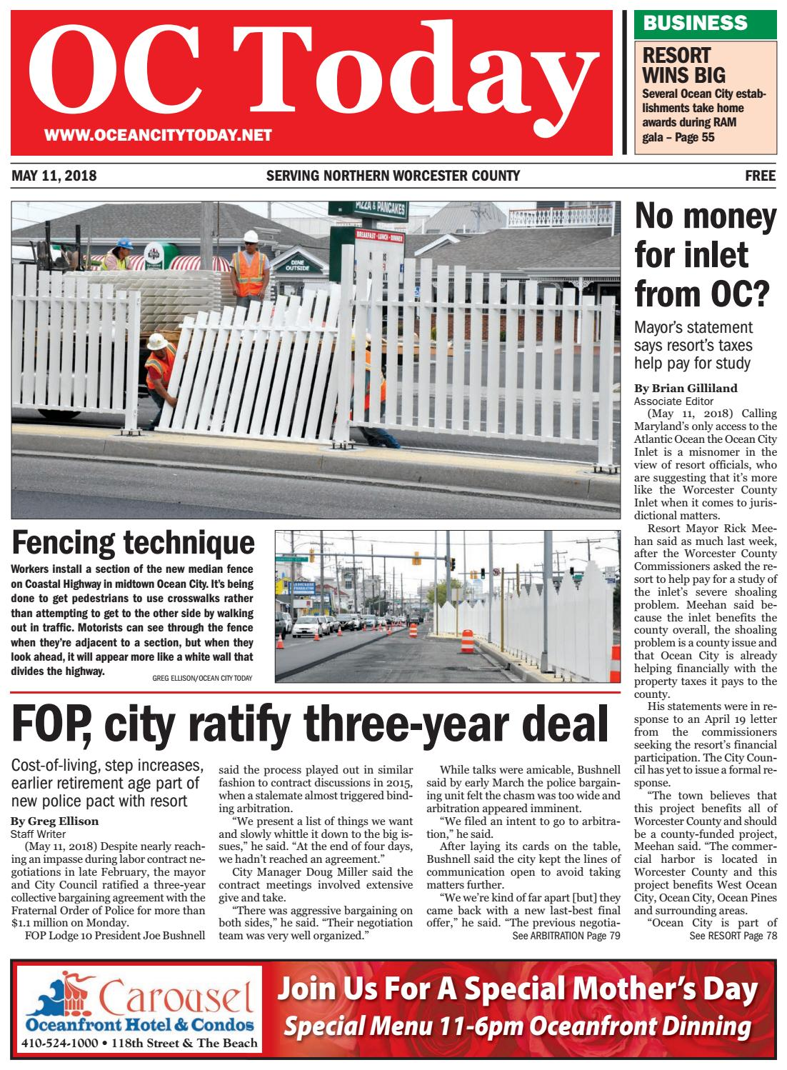 5/11/18 Ocean City Today by ocean city today - issuu