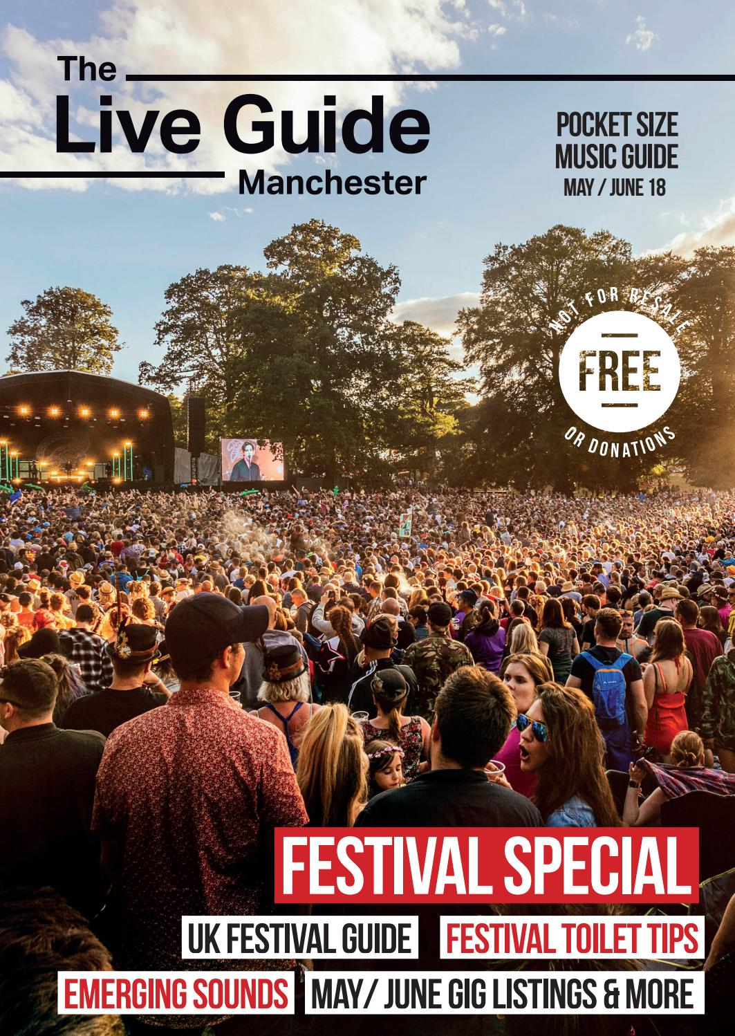 The Live Guide Manchester May / June 18 by The Live Guide