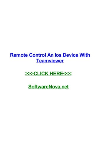 Remote control an ios device with teamviewer by jeffpbpk - issuu