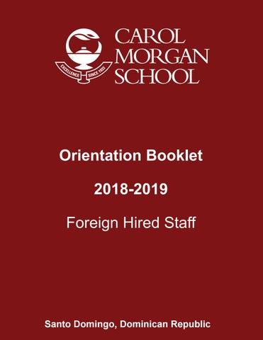 Orientation booklet 2018 2019 by Carol Morgan School - issuu