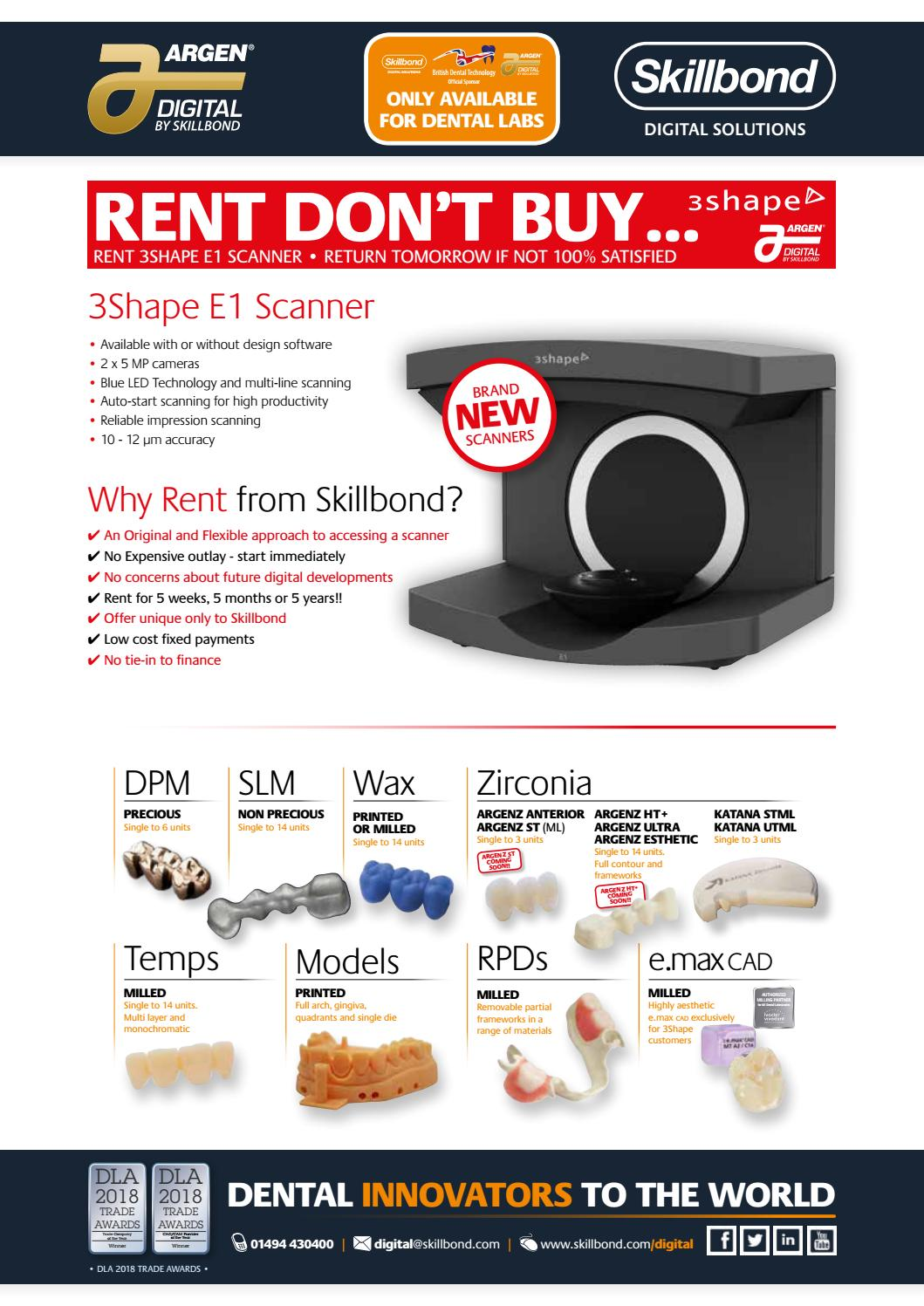 Rent Don T Buy 3shape E Series Scanners By Skillbond Direct Ltd Issuu