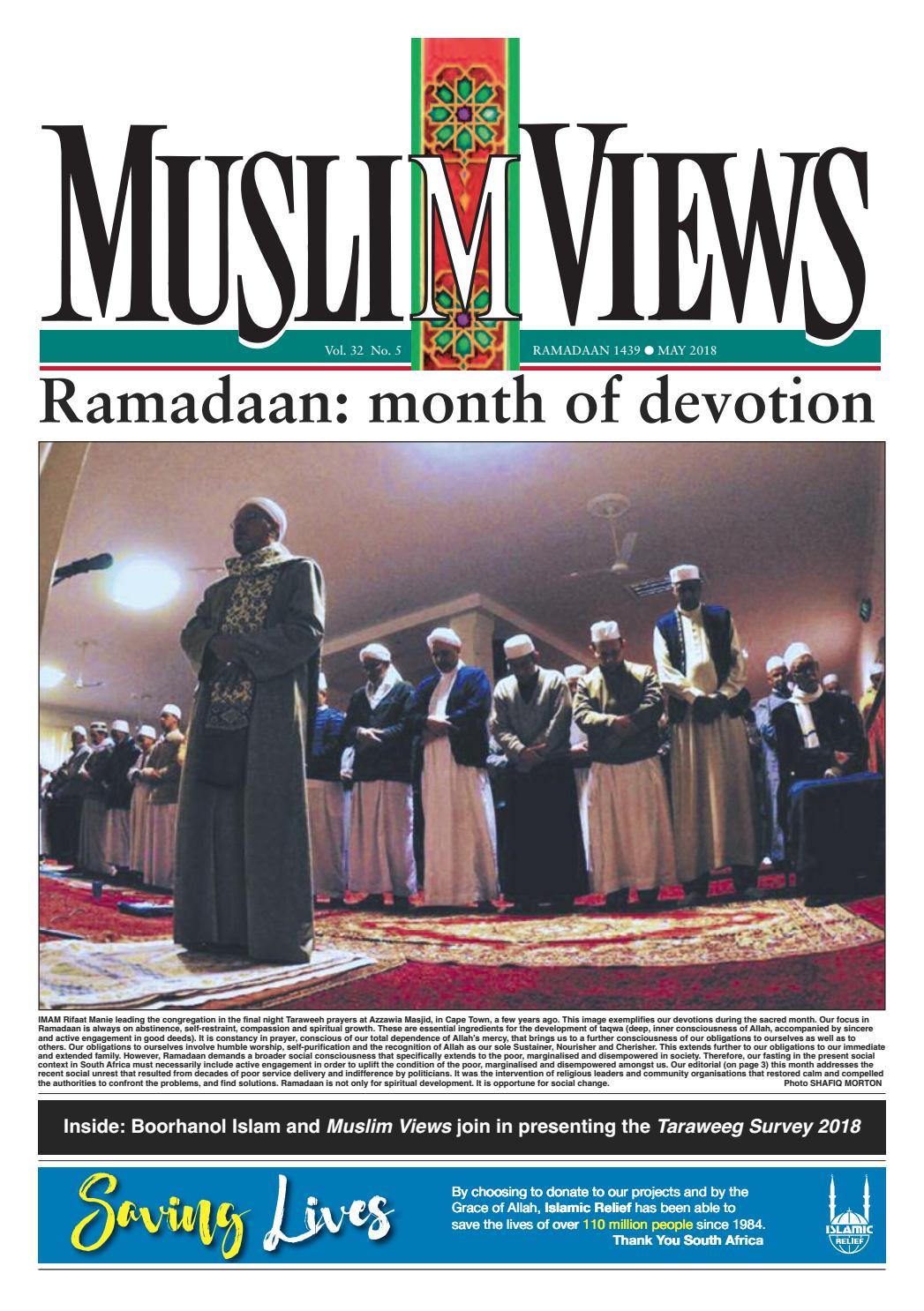 Muslim Views, May 2018 by Muslim Views - issuu