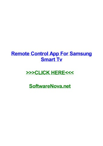 Remote control app for samsung smart tv by hollyqmuhi - issuu
