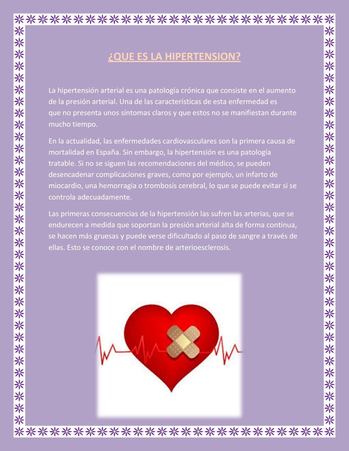 Y hipertension consecuencias sintomas