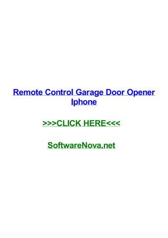 Remote Control Garage Door Opener Iphone By Heatherqxekt Issuu