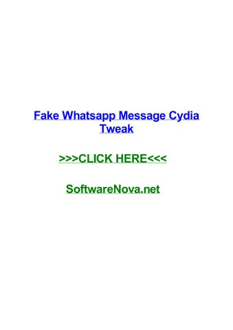 Fake whatsapp message cydia tweak