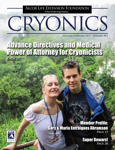 Cryonics 2017 January February By Alcor Life Extension Foundation