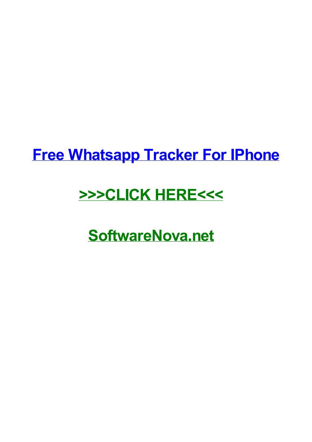 Free whatsapp tracker for iphone by karenfeezx - issuu
