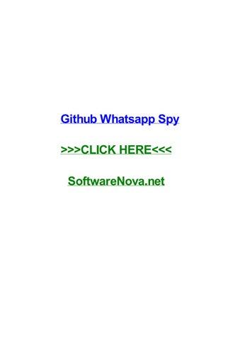 Github whatsapp spy by cherylfiyh - issuu