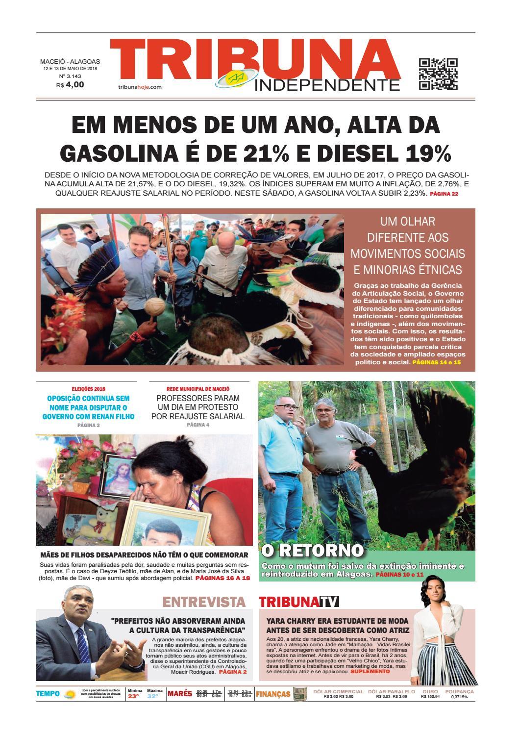 Edição número 3143 - 12 e 13 de maio de 2018 by Tribuna Hoje - issuu 9e5c71478a7df