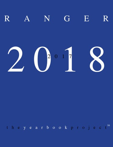 The Ranger 2018 Yearbook Project By Kilgore College Issuu