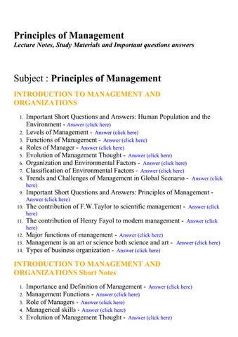 PRINCIPLES OF MANAGEMENT NOTES PDF DOWNLOAD | More Pdf