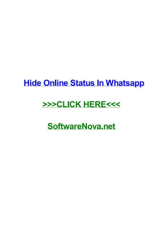 Hide online status in whatsapp by terrencevunrd - issuu