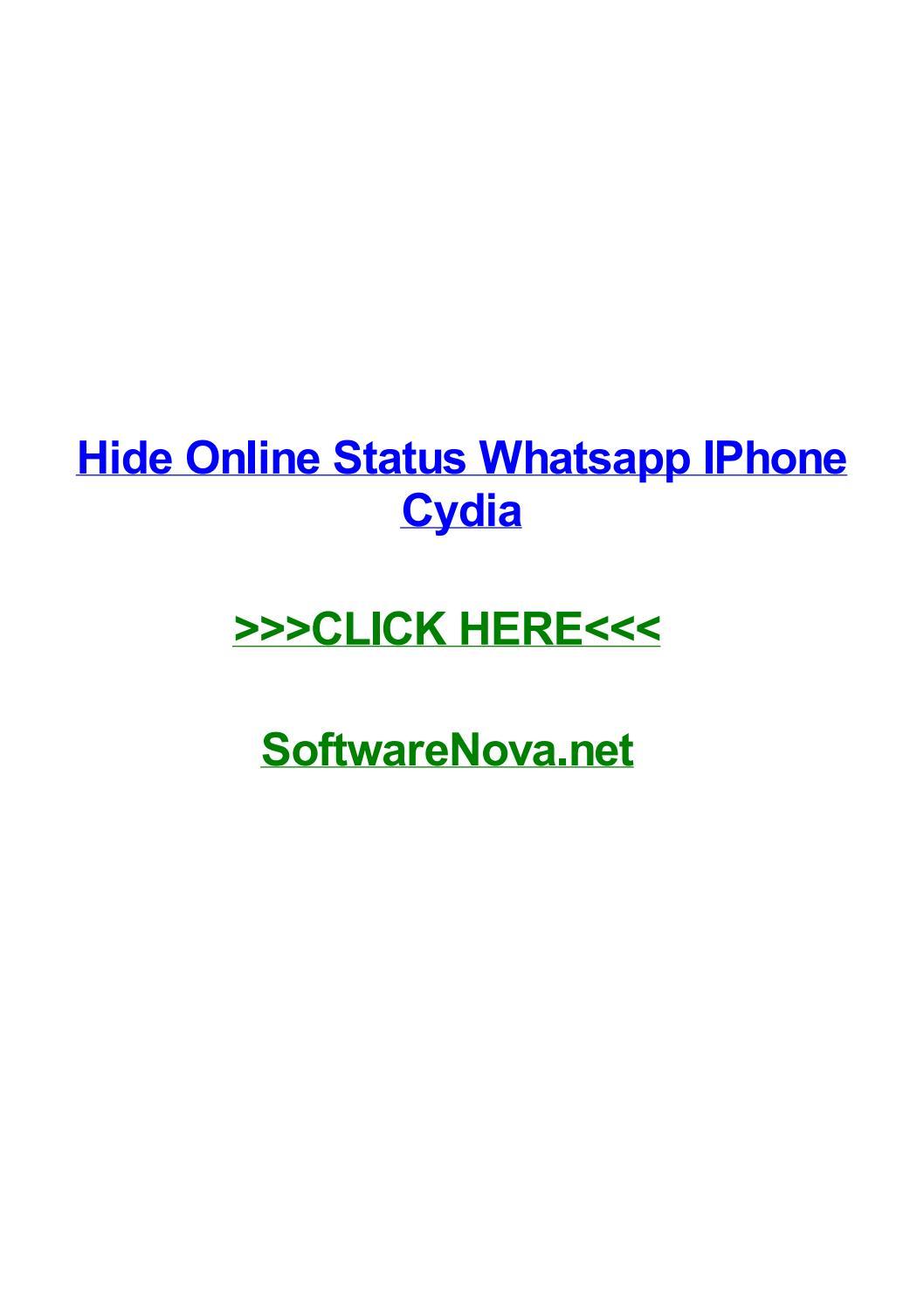 Hide online status whatsapp iphone cydia by lisahtwc - issuu