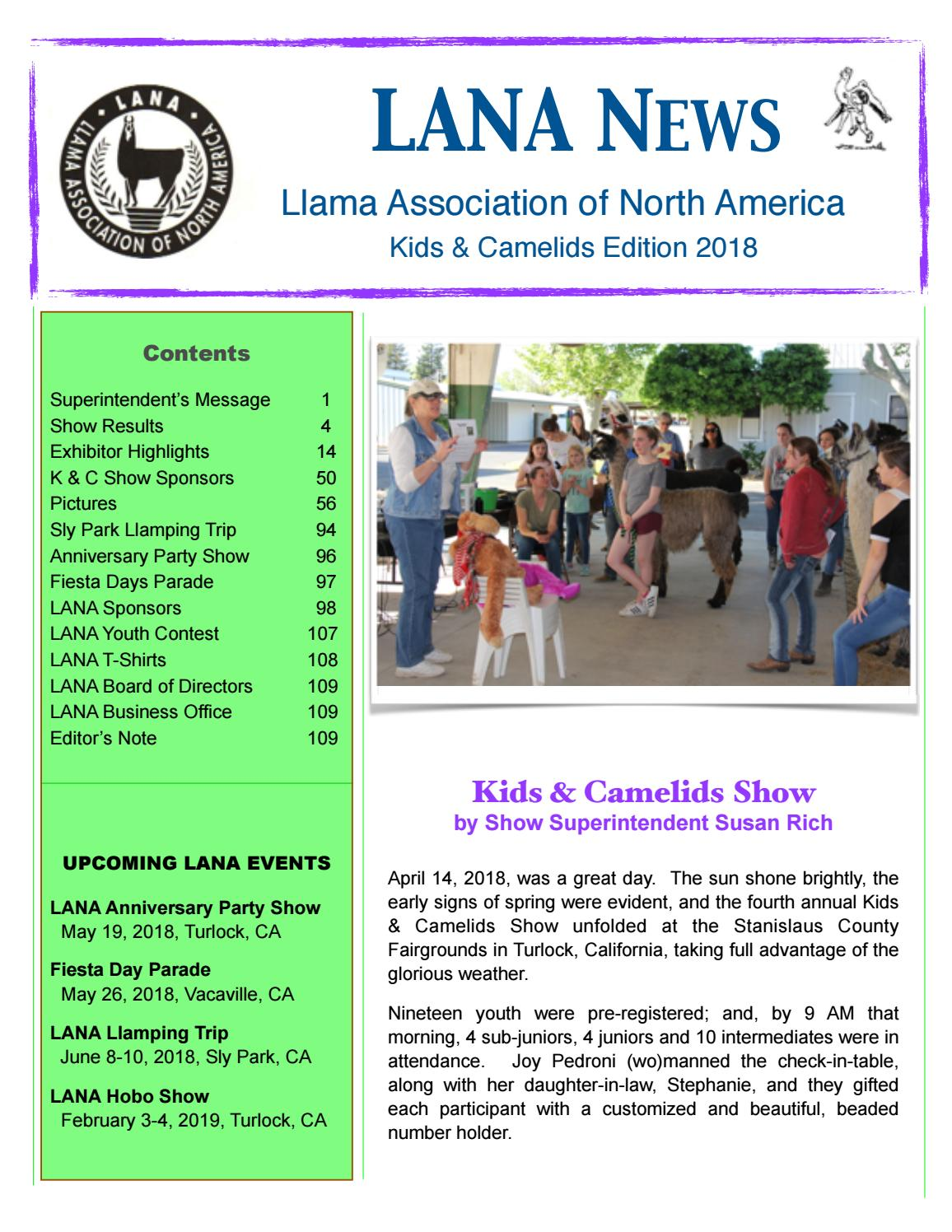 LANA Kids & Camelids 2018 by Llama Association of North