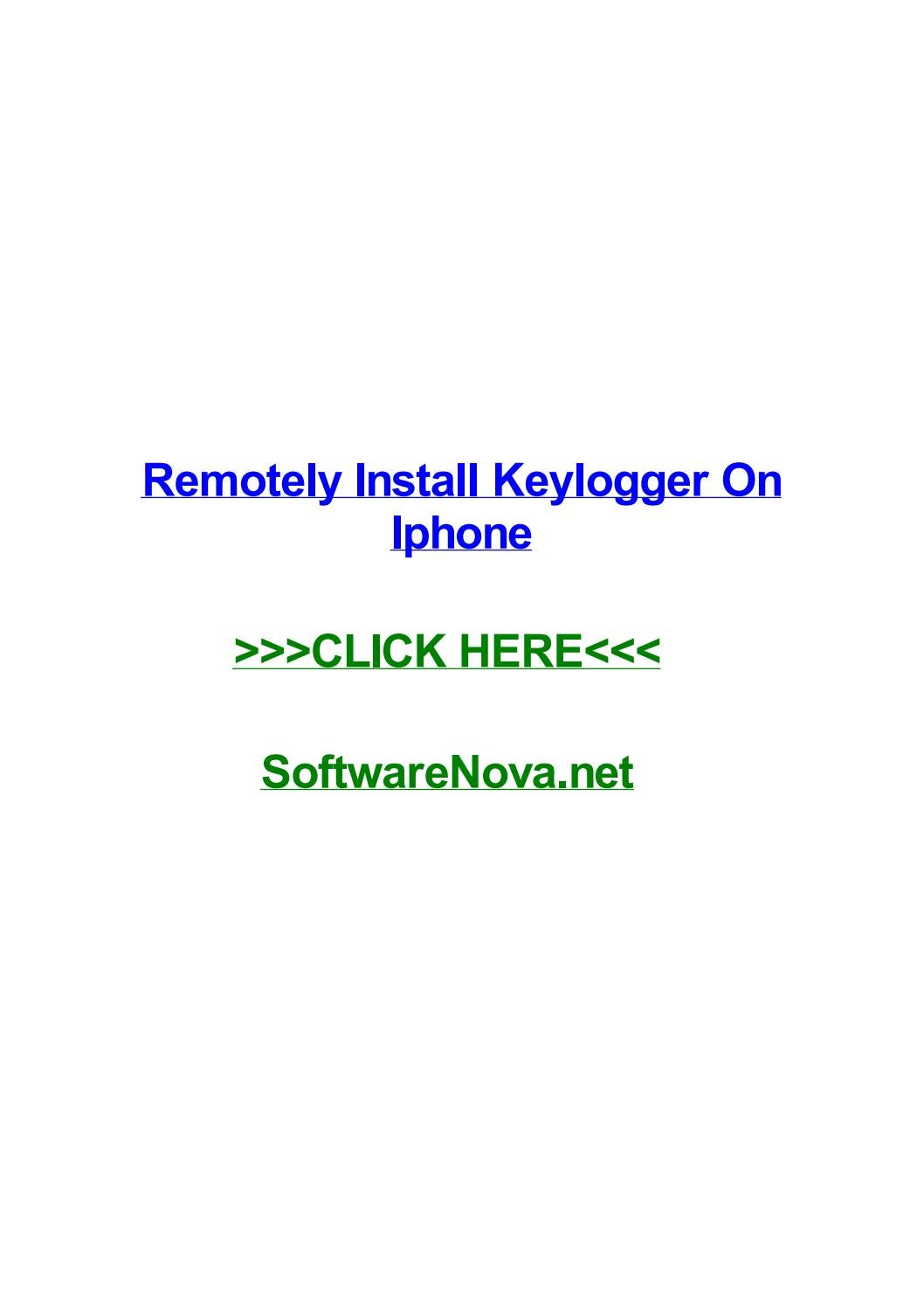 Remotely install keylogger on iphone by jessicanamt - issuu