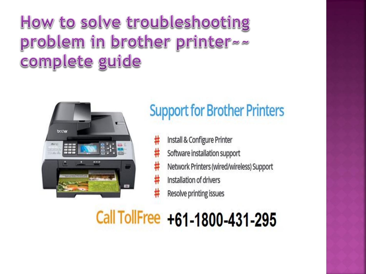 How to fix all in one troubleshoot in brother printer call 61 1800