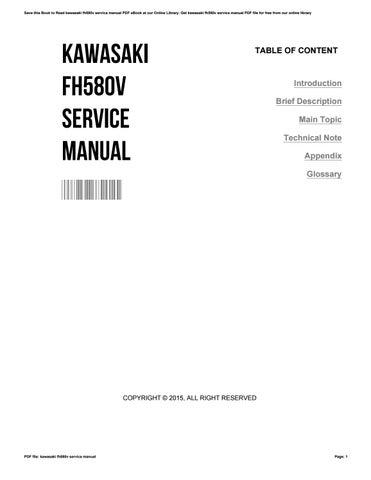 kawasaki fh580v service manual by phpbb13 issuu rh issuu com