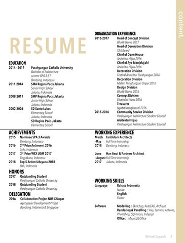 Page 3 of Directory and Resume
