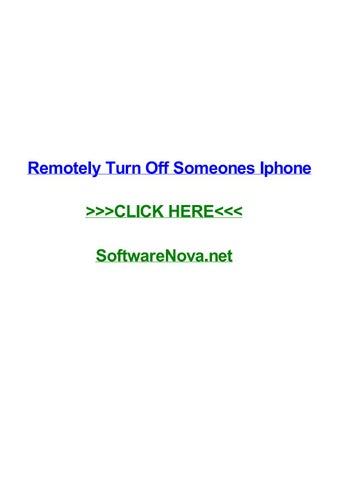 Remotely turn off someones iphone by nicoleyzwt - issuu