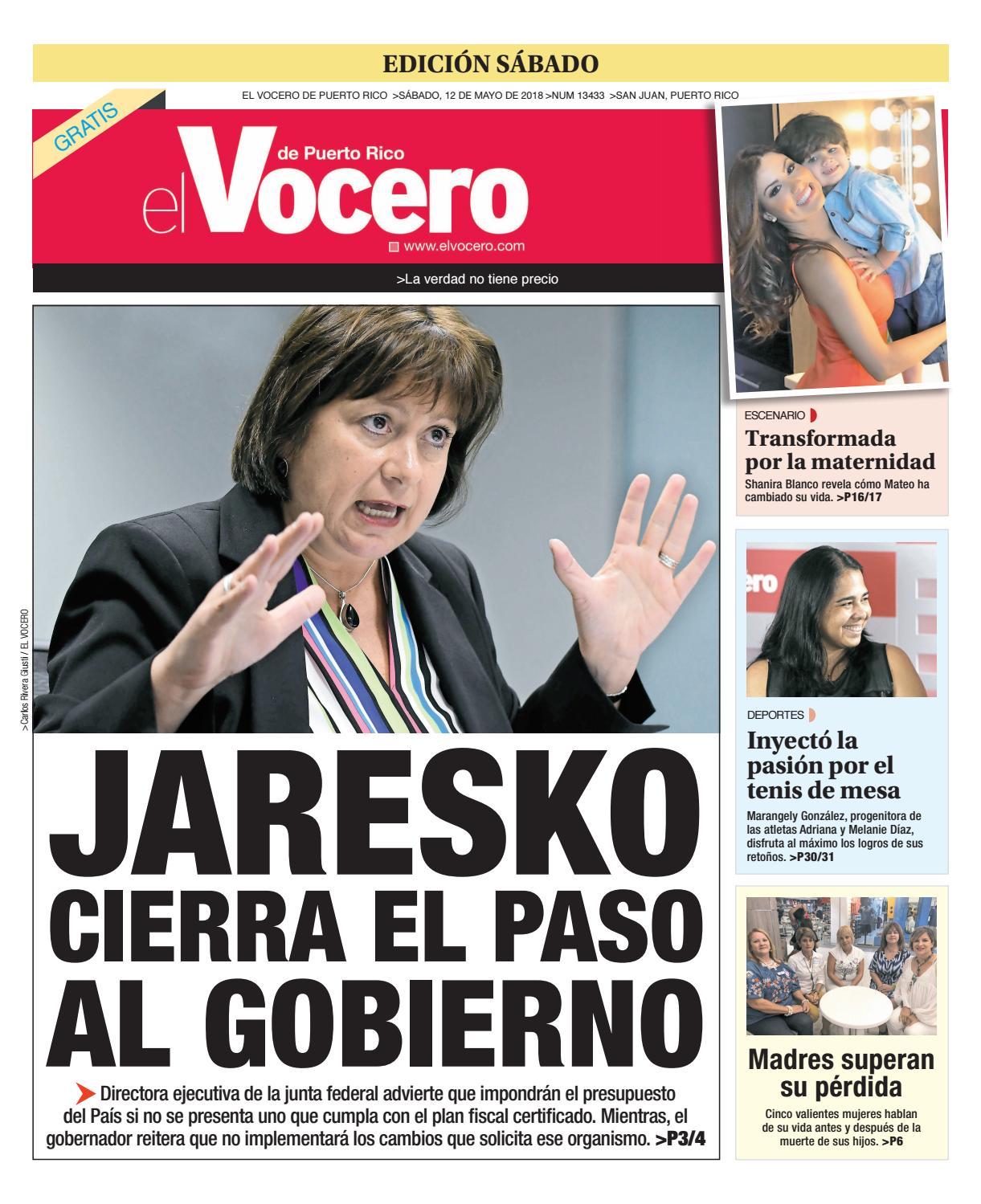 Edición del 12 de mayo de 2018 by El Vocero de Puerto Rico - issuu