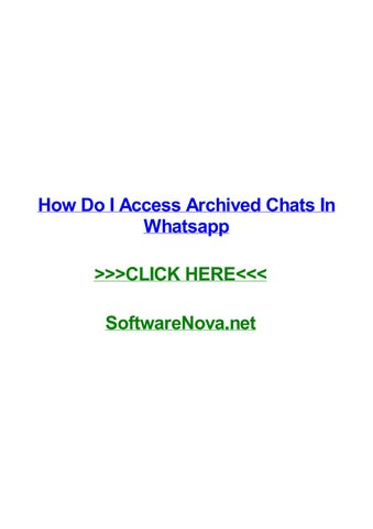 how to access archived chats on whatsapp
