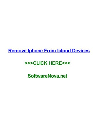 Remove iphone from icloud devices by ginazlyn - issuu