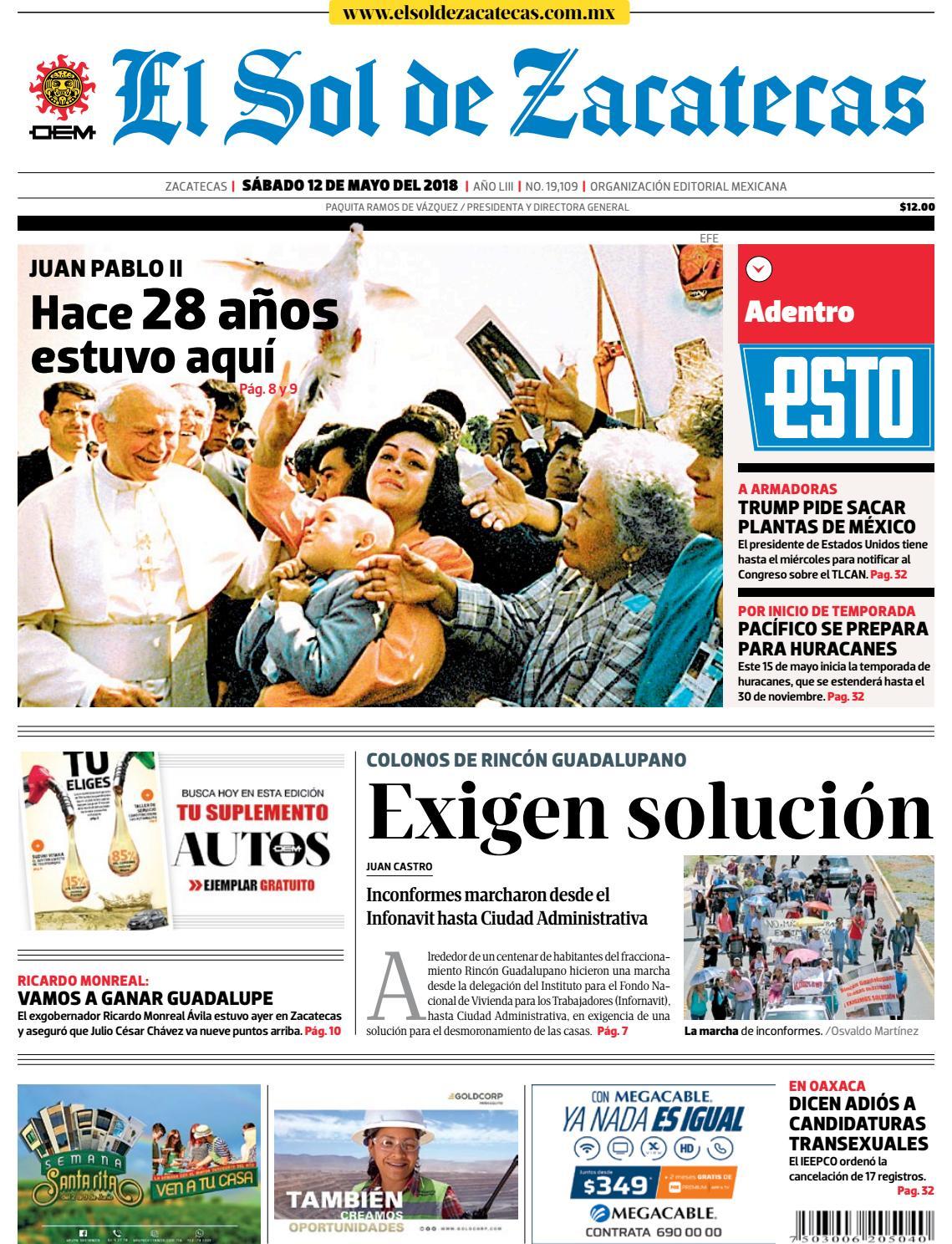 2b1d3f54464 El Sol de Zacatecas 12 de mayo 2018 by El Sol de Zacatecas - issuu