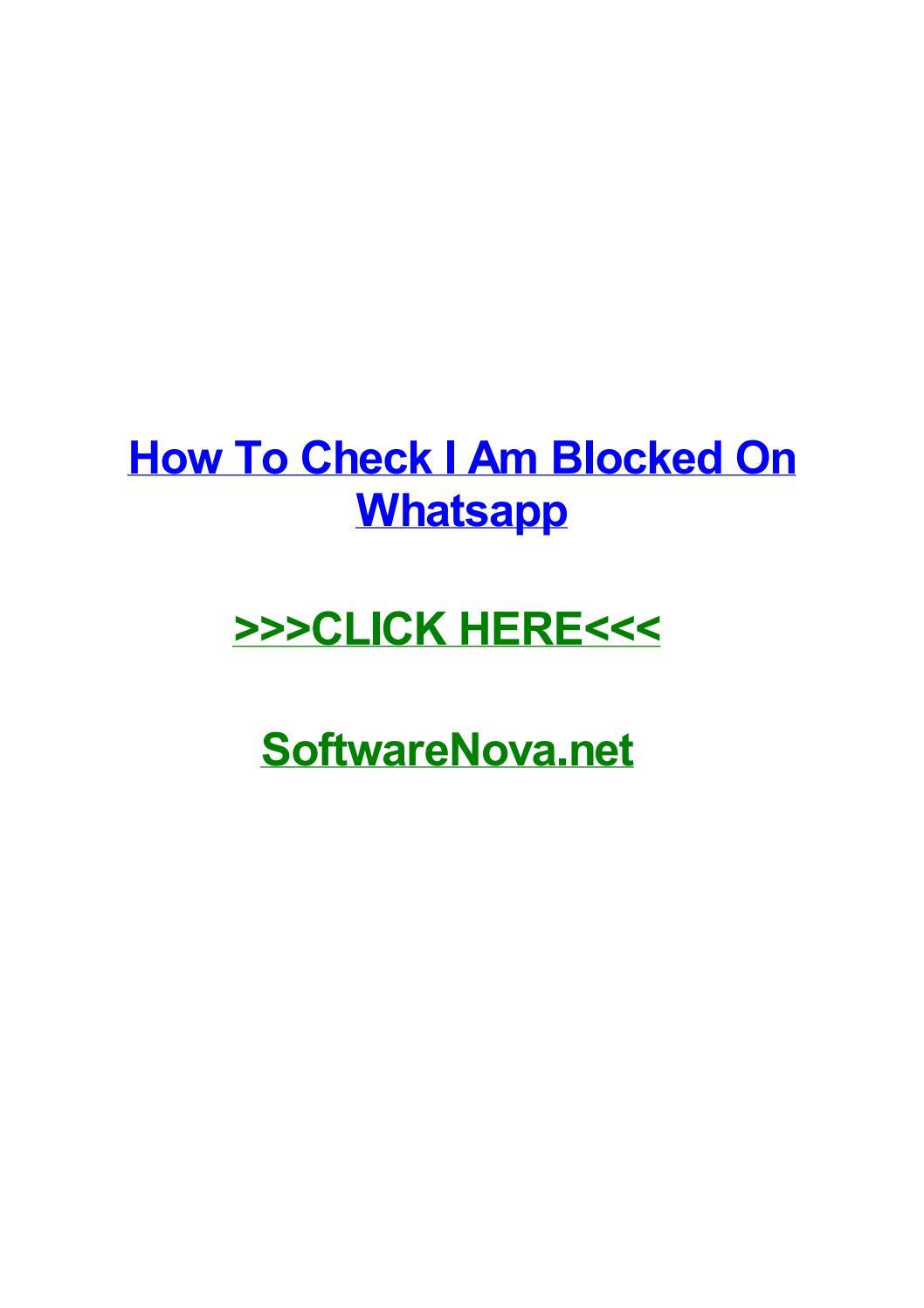 How to check i am blocked on whatsapp by trevermmgsv - issuu