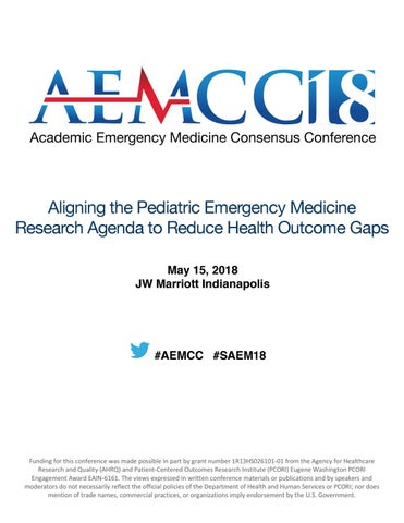 Aligning the Pediatric EM Research Agenda by Society for