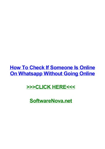 How to check if someone is online on whatsapp without going online