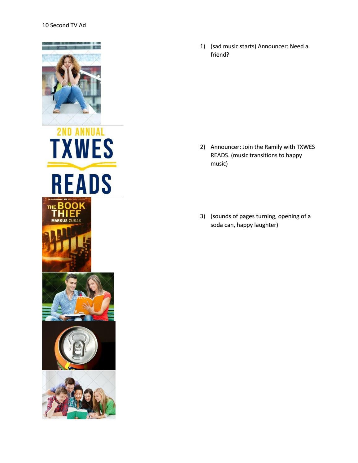 TXWES READS 10-Second TV Ad by Hannah Onder - issuu