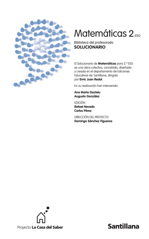 Libro De Matemática Solucionario Santillana 2eso By Paola Bruera Issuu